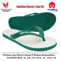 Sandal Swallow Original Tipe 05 - Hijau (Size 9 - 12)
