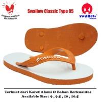 Sandal Swallow Original Tipe 05 - Orange (Size 9 - 10.5)