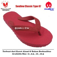 Sandal Swallow Original Tipe 07 - Merah (Size 9 - 10.5)