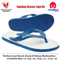 Sandal Swallow Original Tipe 05 - Biru (Size 9 - 12)