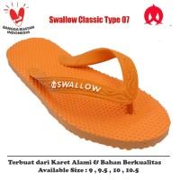Sandal Swallow Original Tipe 07 - Orange (Size 9 - 10.5)