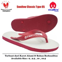 Sandal Swallow Original Tipe 05 - Merah (Size 9 - 10.5)