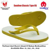 Sandal Swallow Original Tipe 05 - Kuning (Size 9 - 10.5)