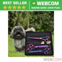 Set Gunting Grooming Bulu Hewan Peliharaan Perawatan Pet Anjing