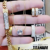 titanium set perhiasan 23y19