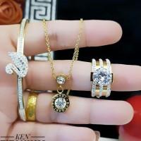 titanium set perhiasan 23y7