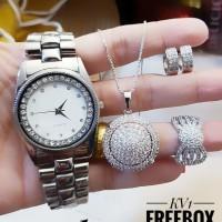 jam tangan dan set perhiasan 23y48