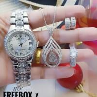 jam tangan dan set perhiasan 23y49