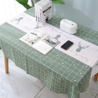 Taplak Meja Makan Anti Air Cover Meja Waterproof Bahan Peva Dekorasi