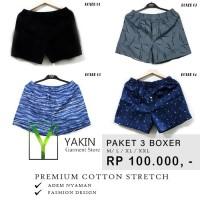 Celana Pendek Boxer katun| Cotton |Super adem | Model Fashion | PAKET