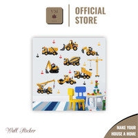 VineMaple Kids Learning - Stiker Dinding / Wall Sticker - Motif H
