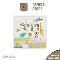 Cute Animal Photo Frame (60x90cm) - Stiker Dinding / Wall Sticker