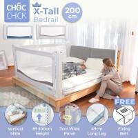 Choc Chick 200cm Extra Tall Bedrail Pagar Ranjang Bayi Bed Guard Rail