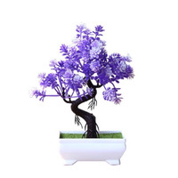 Bunga Plastik Hiasan Pajangan pot Dekorasi pohon Bonsai Pyramid