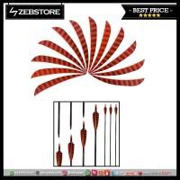 Arrow Feathers Anak Panah Vane Shape Turkey Strip 12pcs