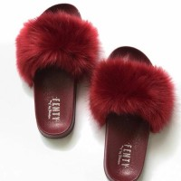 Ready Stock Sandal Slop Bulu Fenty Terlaris