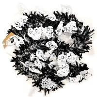 Scoop Dekorasi Halloween Tinsel Hitam Putih Tengkorak 59580201