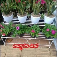 rak tanaman hias 2 susun pjg 100 cm tgi 50 cm