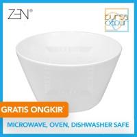Zen Modern White Round Bowl Large 26 cm (MK-25MR) / Mangkok Sayur