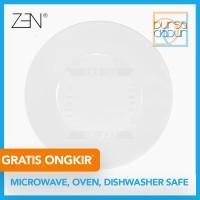 Zen Modern White Round Dinner Plate 27.5 cm (PC-27.5MR) / Piring Makan