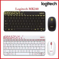 Keyboard Mouse Wireless Logitech MK240 Combo