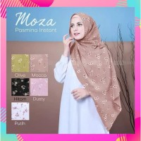 Jilbab/Hijab/Kerudung Pashmina Instan Motif Bunga Model Nisa/Moza