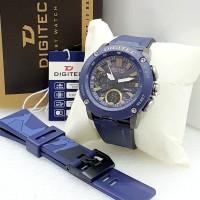 Jam Tangan Pria Digitec Original Dual Time Limited Edition Tahan Air - Biru