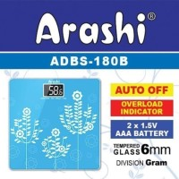 Timbangan Badan Digital LED Arashi 180B Kaca Elektrik Timbangan LED