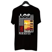 BF018 Kaos Distro Pria T-Shirt Pria Kaos Pria Los Angeles Paradise