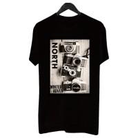 BF025 Kaos Distro Pria T-Shirt Pria Kaos Pria Camera Kamera - Putih, L