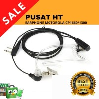 EARPHONE HEADSET HT MOTOROLA CP 1660 1300 GP 2000 TRANSPARANT SPIRAL