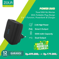 ZOLA Power Duo 5000mAh Charger dan Powerbank 2 Output Fast Charge 2.4A
