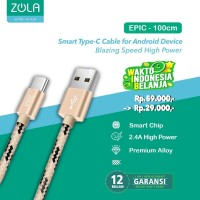 Kabel Data & Charging Type C ZOLA EPIC Fast charge 2.1A 100cm - Gold