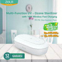 Zola UV Sterilizer Multi Function Box With 10W Wireless Fast Charging