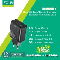Zola Thunder V Charger VOOC 3.0, QC4.0, FlashCharge, SuperCharge 22,5W