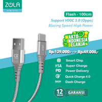 ZOLA Flash Fast Charge Kabel Data Type C QC3.0,VOOC,SuperCharge Max 5A