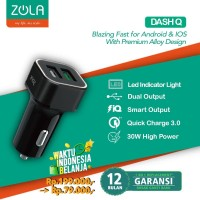 Zola International Dash Q Car Charger Quick Charge 3.0 - Black