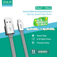 Zola International Kabel Smrfs Micro 100cm Data & Fast Charging 2,1A