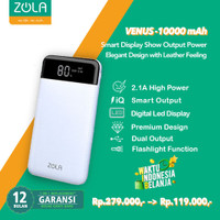 Zola Powerbank Venus 10000mAh Smart LED Display 2.1A Fast Charging