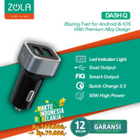Car Charger ZOLA Dash Q Quick Charge 3.0 - Black/Silver