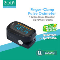 Zola Fingertip Pulse Oximeter Sp02 Saturation Monitor HD Color Display