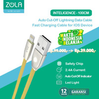 Kabel Data iOS Lightning ZOLA Intelligence2 Auto Power OFF - Gold
