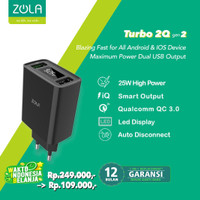 ZOLA Turbo 2Q Gen2 Smart Led Quick Charge 3.0 Dual Output USB Charger