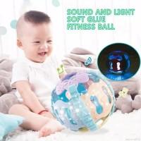 Mainan Bayi Rattle Bola Lampu Musik Theeter Ball Gigitan Baby Lonceng