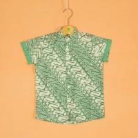 Pop Kidswear Puru Batik Shirt - Kemeja batik anak cap asli katun 100%