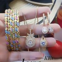 xuping set perhiasan lapis emas 24k A244