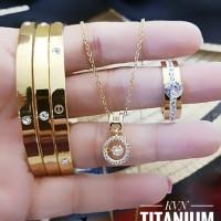 titanium set perhiasan A2418