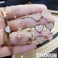 titanium set perhiasan A2416