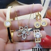 titanium set perhiasan A2424