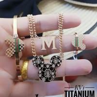 titanium set perhiasan A2425